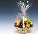 24x30 Clear Cello Basket Bag